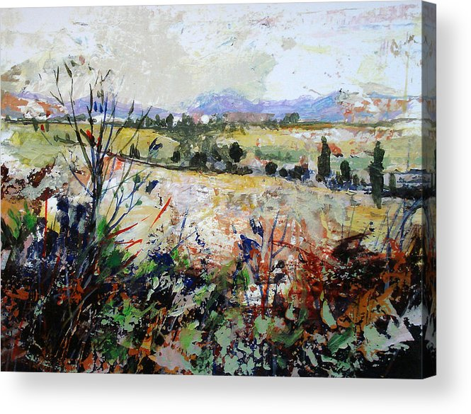 Landscape Acrylic Print featuring the painting Spring Rain by Dale Witherow
