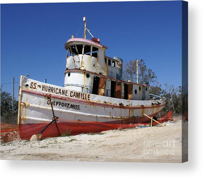 Ship Acrylic Print featuring the photograph S.s. Hurricane Camille by Debbie May