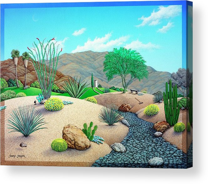 Desert Acrylic Print featuring the painting Steves Yard by Snake Jagger