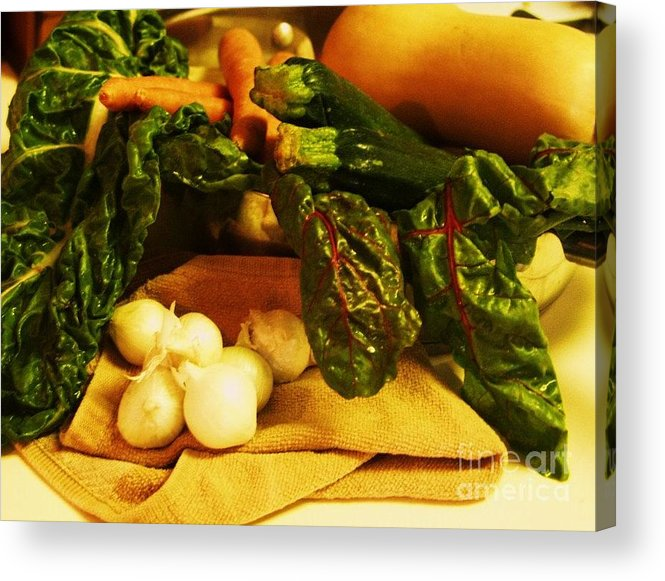 Vegetables Acrylic Print featuring the photograph Still Life And Then Dinner by Jamey Balester
