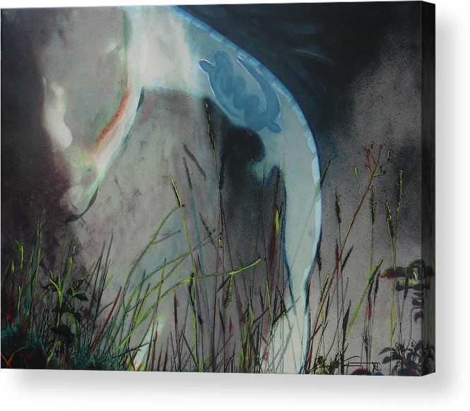 Landscape Acrylic Print featuring the mixed media Summation Of One by Xavier Carter