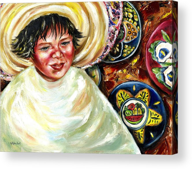 Child Acrylic Print featuring the painting Sunny Day by Hiroko Sakai