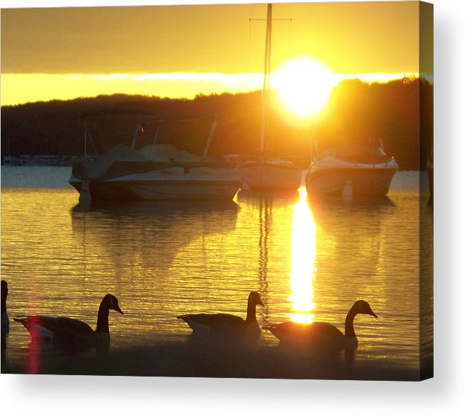 Sunrise Acrylic Print featuring the photograph Sunrise 10 5 2009 007a by Chris Deletzke aka Sparkling Clean Productions
