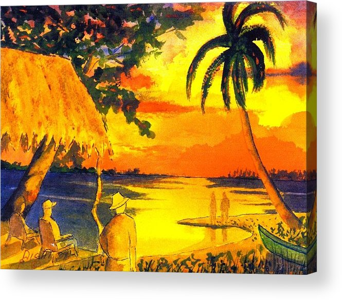 Mexico Acrylic Print featuring the painting Sunset At Las Lupita by Buster Dight