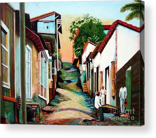 Cuban Art Acrylic Print featuring the painting Sunset by Jose Manuel Abraham