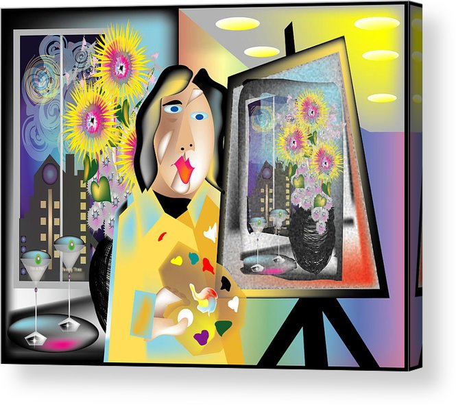 Contemporary Acrylic Print featuring the digital art The Artist by George Pasini