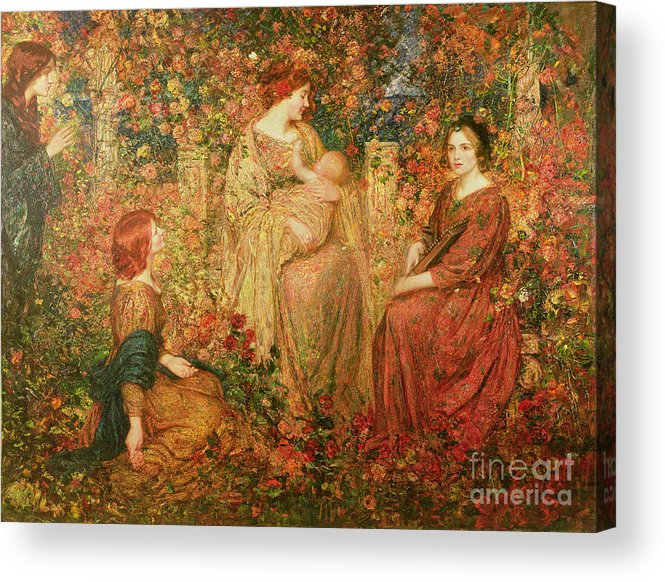 The Acrylic Print featuring the painting The Child by Thomas Edwin Mostyn