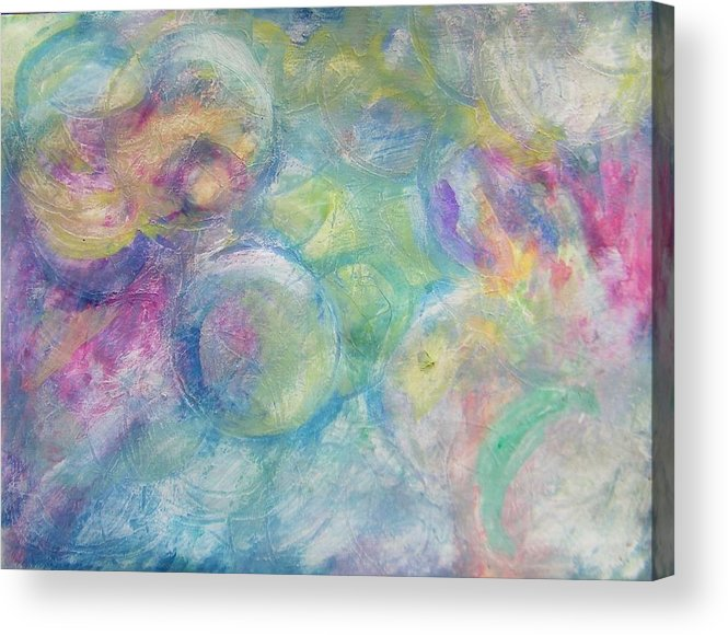 Abstract Acrylic Print featuring the painting The Color Of Bubbles by Judith Redman
