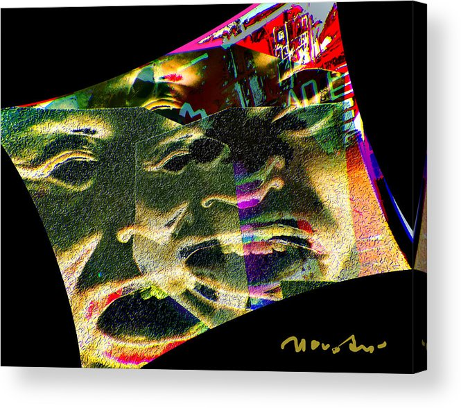 Painting Acrylic Print featuring the painting The Drama Proceeds by Noredin Morgan