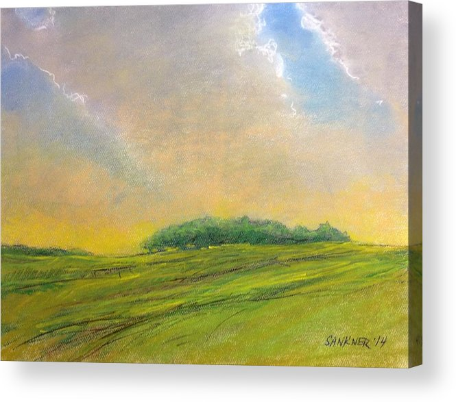 Ohio Acrylic Print featuring the painting The Glow by Robert Sankner