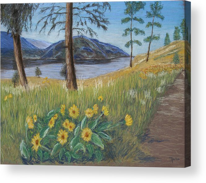 Lake View Acrylic Print featuring the painting The Lake Trail by Marina Garrison
