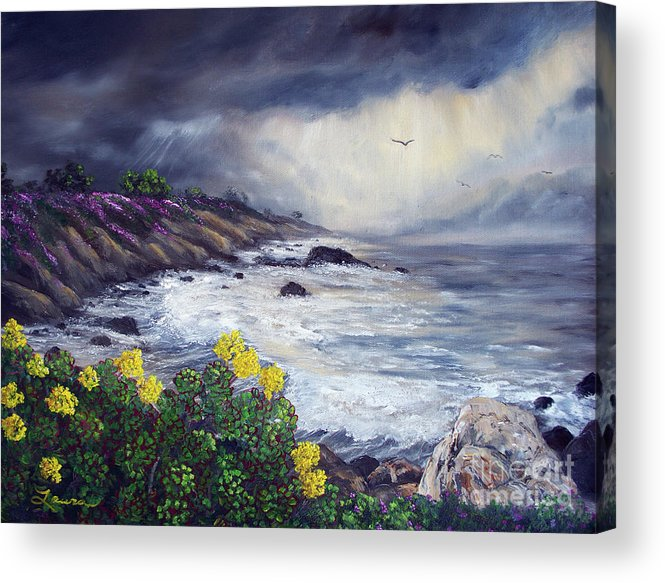 California Acrylic Print featuring the painting The Last Storm by Laura Iverson