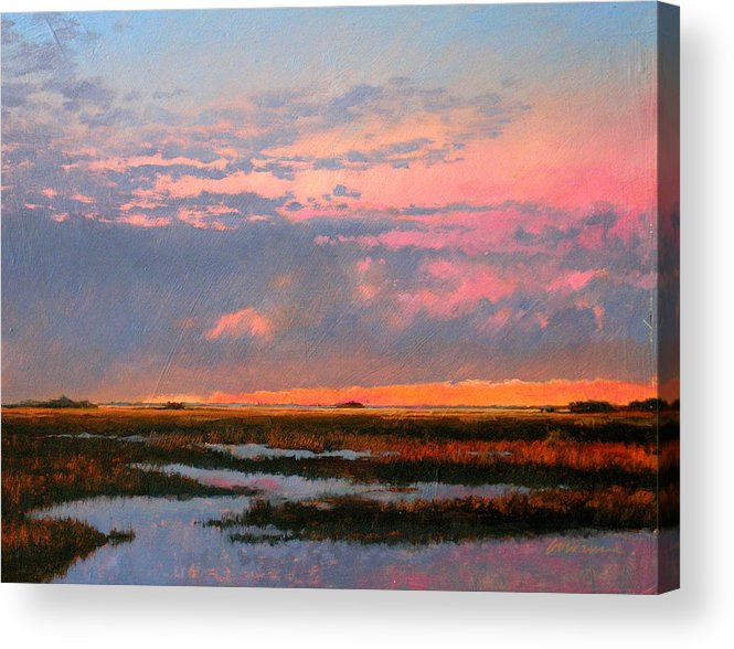 Marsh Acrylic Print featuring the painting The Marsh by Gary Gowans