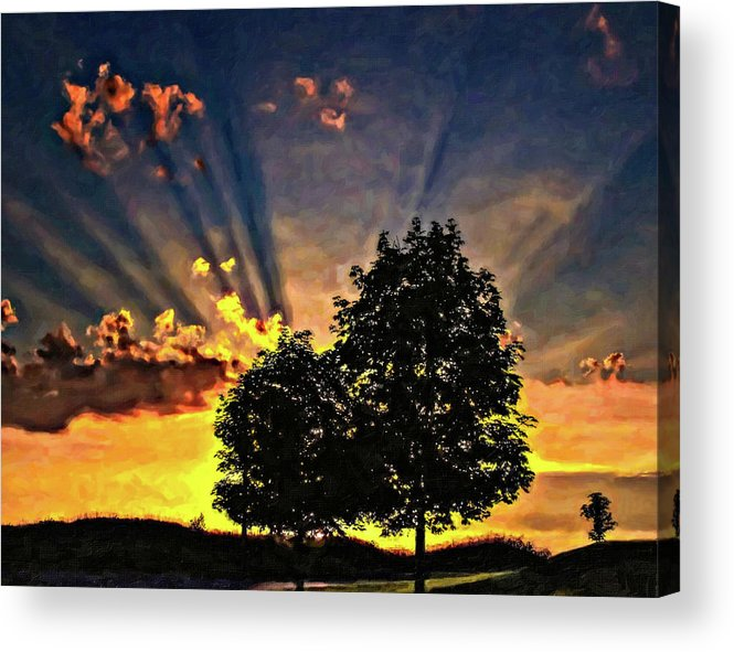 Sunset Acrylic Print featuring the photograph The Promise Oil by Steve Harrington