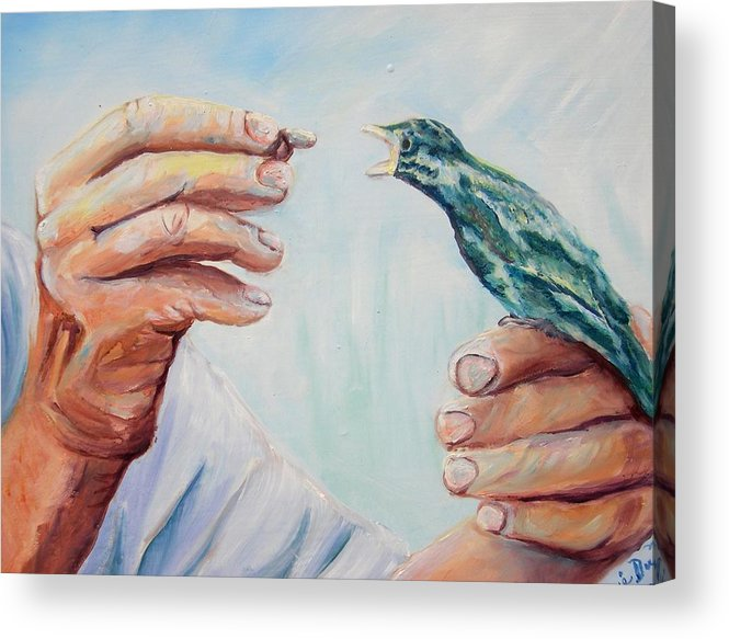 Contemporary Acrylic Print featuring the painting The Provider by Renee Dumont Museum Quality Oil Paintings Dumont