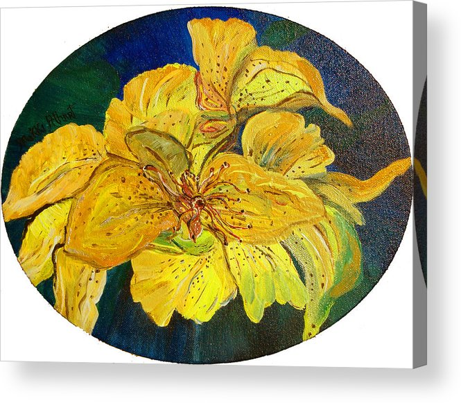 Tiger Lily Acrylic Print featuring the painting Tiger Lily by Mikki Alhart