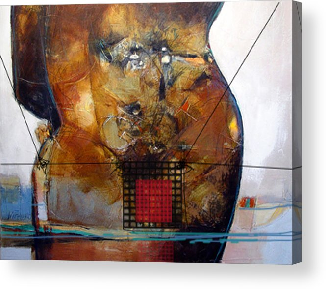 Abstract Acrylic Print featuring the painting Transwim by Dale Witherow