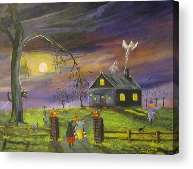 Acrylic Print featuring the painting Trick Or Treat by Dave Farrow