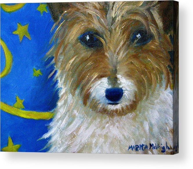Puppy Acrylic Print featuring the painting Trouble by Marita McVeigh