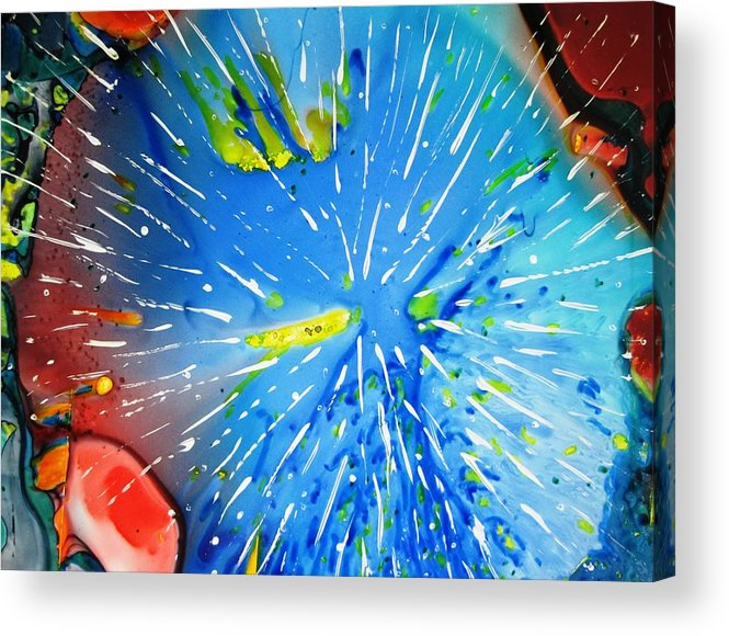 Space Acrylic Print featuring the painting Universe Three by David Raderstorf