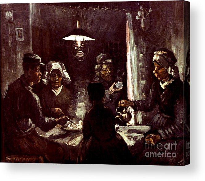 1885 Acrylic Print featuring the photograph Van Gogh: Meal, 1885 by Granger