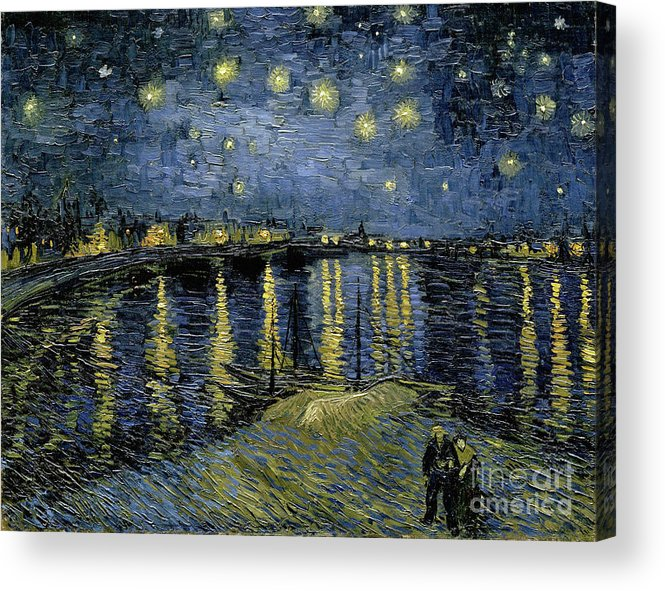 1888 Acrylic Print featuring the painting Van Gogh, Starry Night by Granger