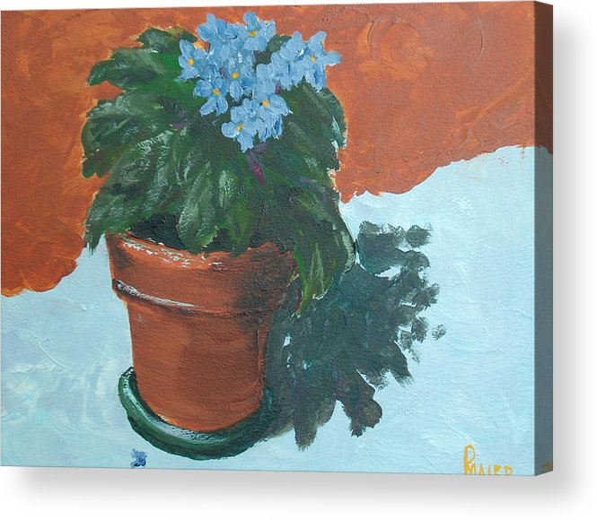 Violets Acrylic Print featuring the painting Violet Blues by Pete Maier