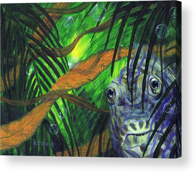 Abstract Acrylic Print featuring the painting Where The Wild Things Are by Kathryn Colvig