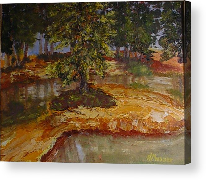 Landscape Acrylic Print featuring the painting Wylie's Island by Helen Musser
