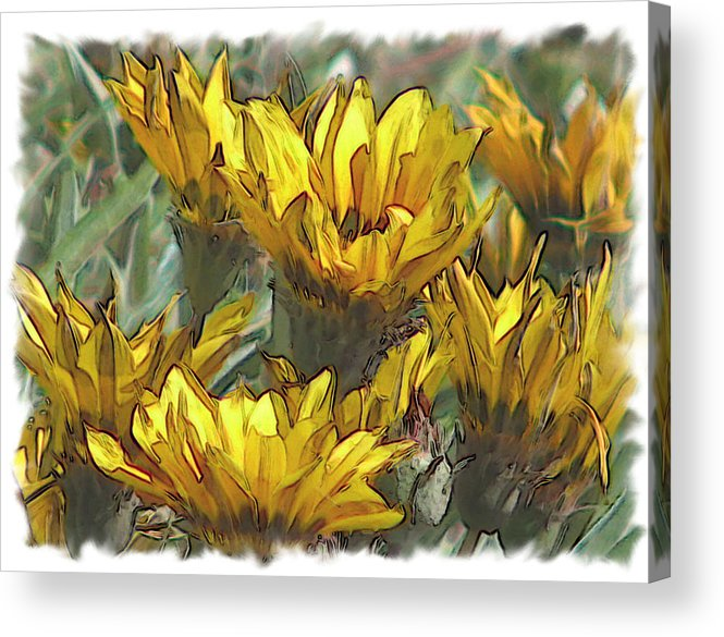 Abstract Acrylic Print featuring the digital art Yellow by Laurianne Nash