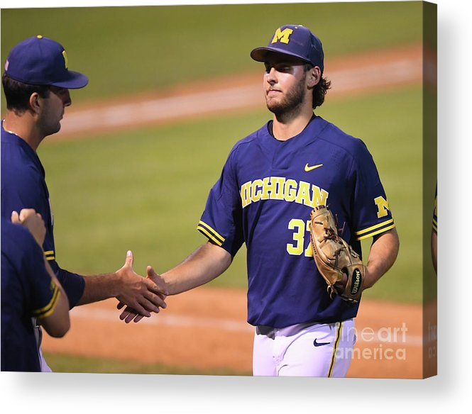 California Acrylic Print featuring the photograph Michigan V Ucla - Game One by Jayne Kamin-oncea
