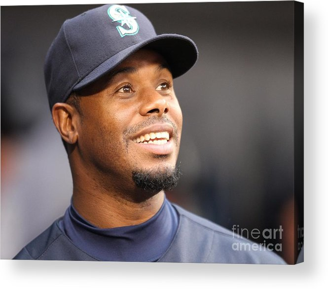 American League Baseball Acrylic Print featuring the photograph Ken Griffey Jr. Retires From Seattle by Otto Greule Jr