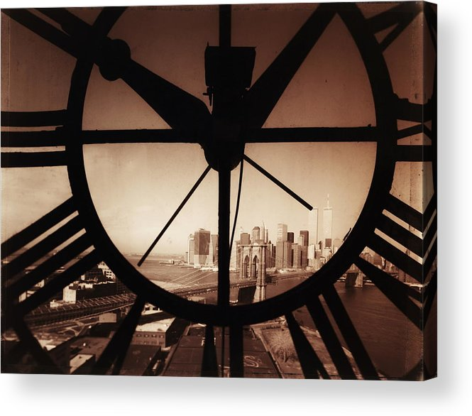 Suspension Bridge Acrylic Print featuring the photograph Usa,new York City, Brooklyn Bridge And by Russell Kaye/sandra-lee Phipps