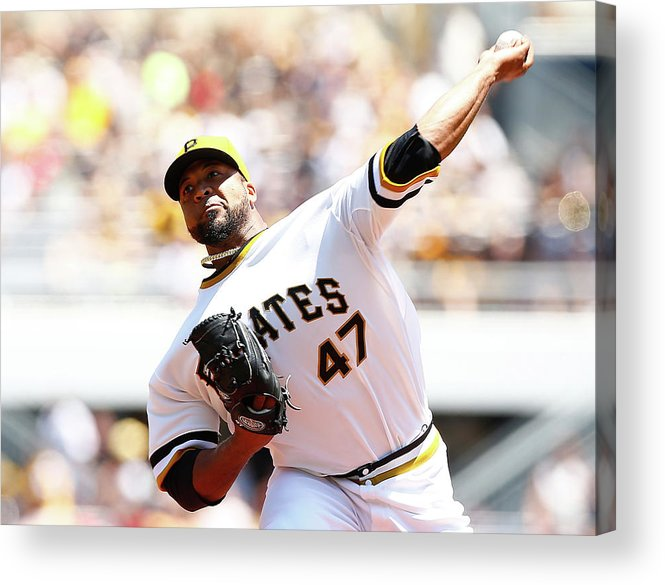 Three Quarter Length Acrylic Print featuring the photograph Francisco Liriano by Jared Wickerham