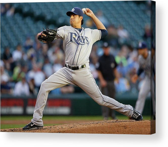 Second Inning Acrylic Print featuring the photograph Cesar Ramos by Otto Greule Jr
