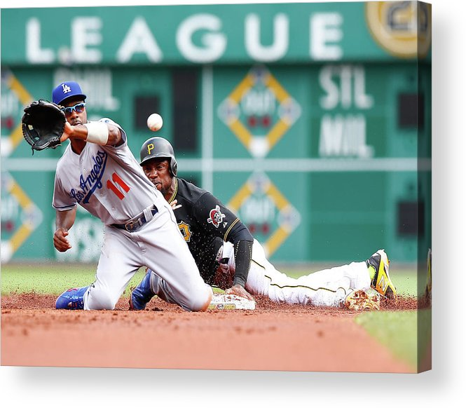 People Acrylic Print featuring the photograph Jimmy Rollins And Starling Marte by Jared Wickerham