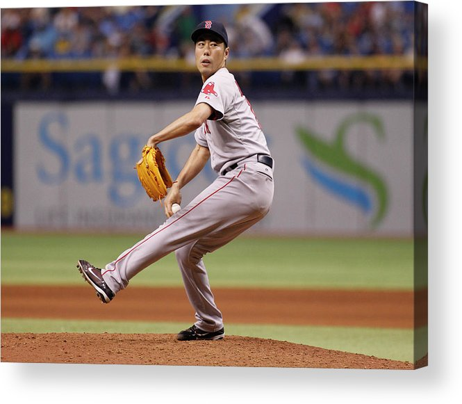 Ninth Inning Acrylic Print featuring the photograph Koji Uehara by Brian Blanco