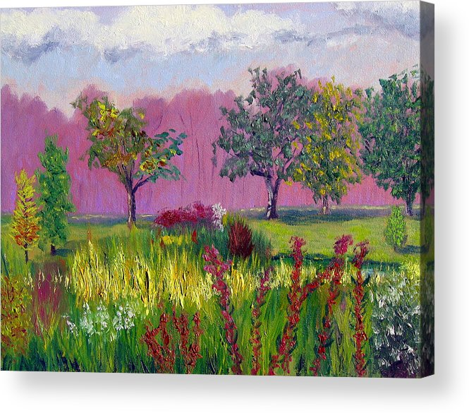 Landscape Acrylic Print featuring the painting Sewp 9 24 by Stan Hamilton