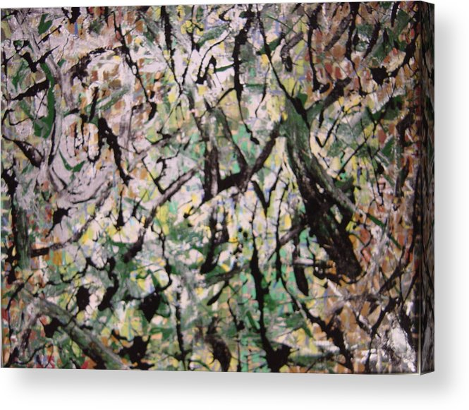 Acrylic Print featuring the painting Forest by Biagio Civale