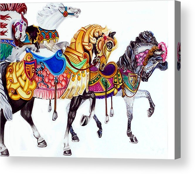 Horses Acrylic Print featuring the print Parade by Bette Gray