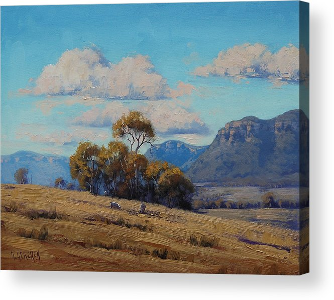 Rural Acrylic Print featuring the painting Capertee Valley Australia by Graham Gercken