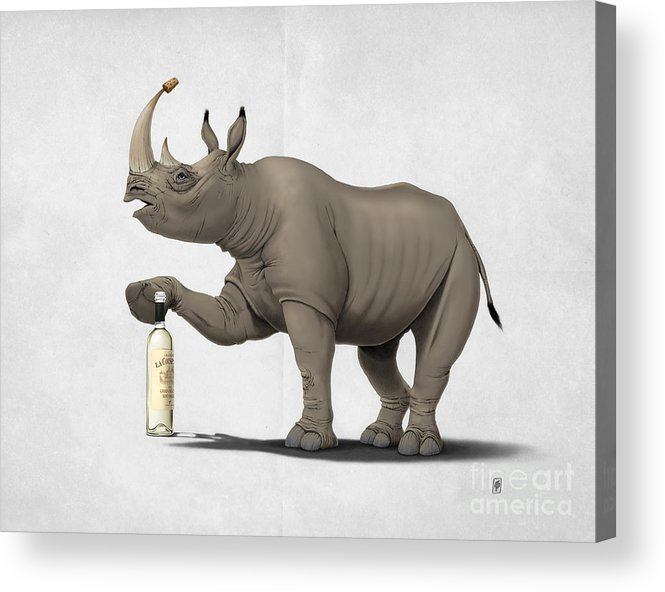 Illustration Acrylic Print featuring the mixed media Cork It Durer by Rob Snow