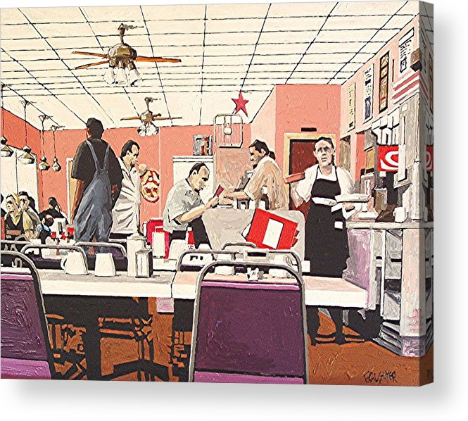 Sacramento Acrylic Print featuring the painting Li'l Joe's by Paul Guyer