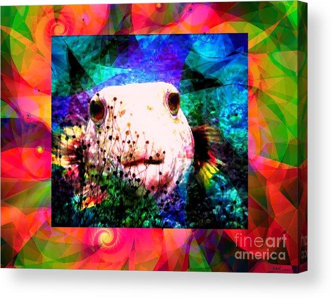 Fractal Art Acrylic Print featuring the digital art A Curious Fellow by Elizabeth McTaggart