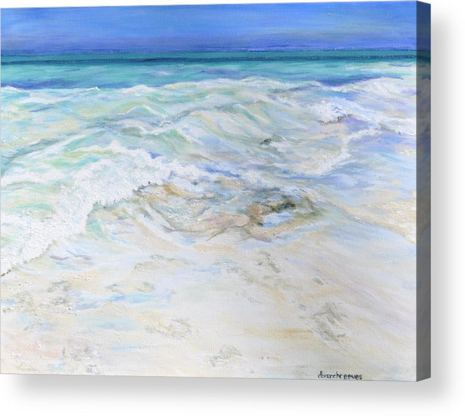 Seascape Acrylic Print featuring the painting The Long Road Home by Dottie Branchreeves