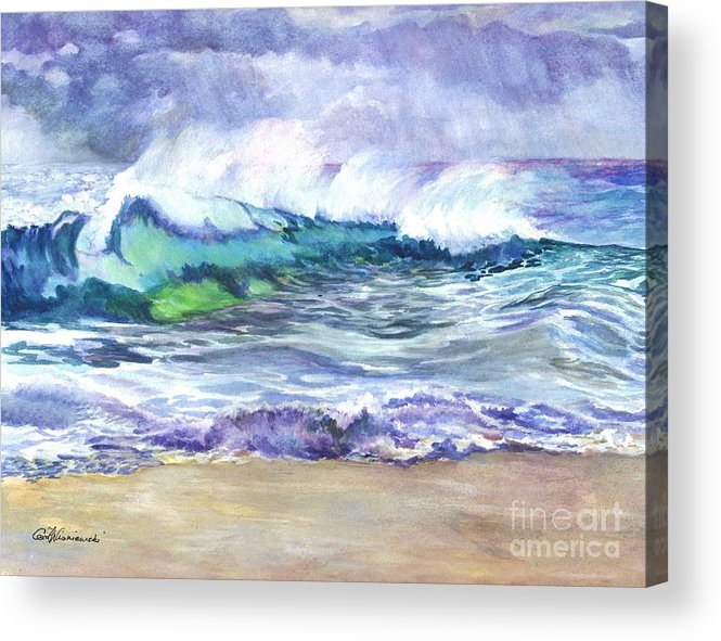 Sea Acrylic Print featuring the painting An Ode To The Sea by Carol Wisniewski