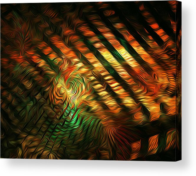 Abstract Acrylic Print featuring the photograph Below Abstract by Radoslav Nedelchev