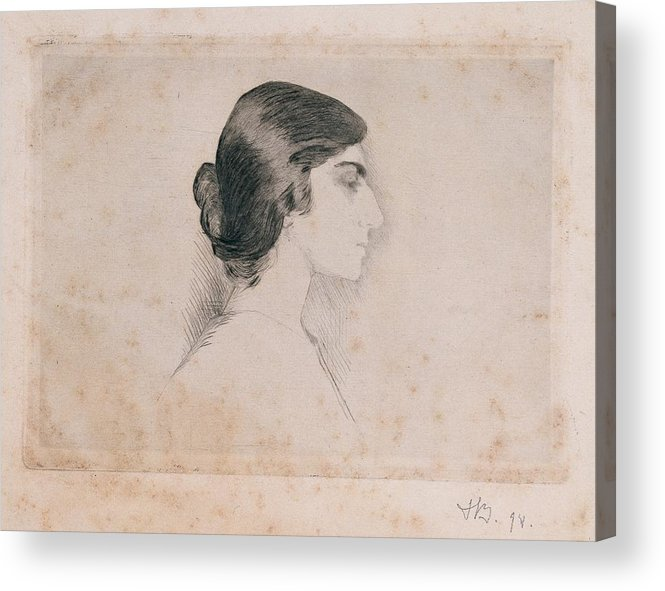Self Portrait Acrylic Print featuring the photograph Blood Florence, Self-portrait, 1898 by Everett