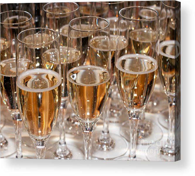 Champagne Acrylic Print featuring the photograph Champagne 01 by Rick Piper Photography