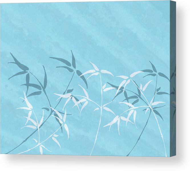 Bamboo Art Acrylic Print featuring the digital art Charm by Aged Pixel